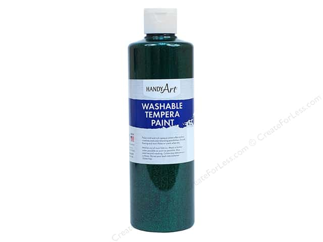 Handy Art Tempra Paint 16 oz Glitter Green