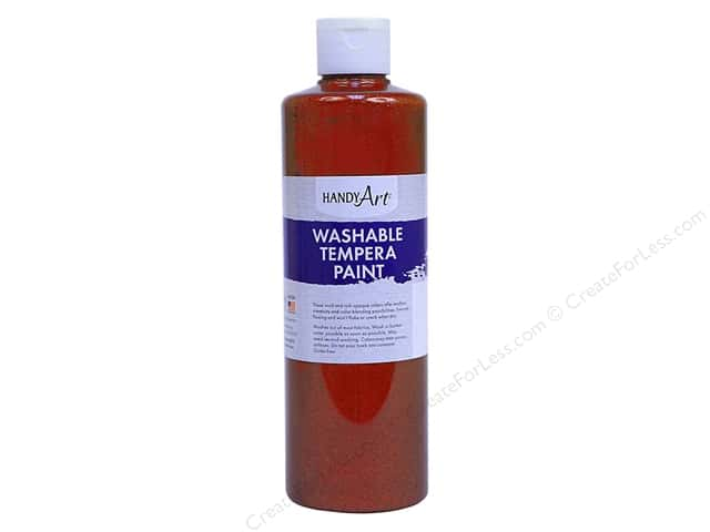 Handy Art Washable Tempra Paint 16 oz. Glitter Orange