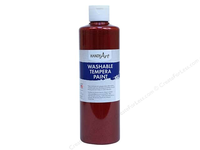Handy Art Tempra Paint 16 oz Glitter Red