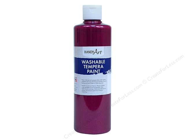 Handy Art Tempra Paint 16 oz Glitter Magenta