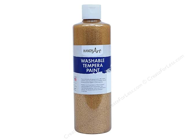 Handy Art Washable Tempra Paint 16 oz. Glitter Gold