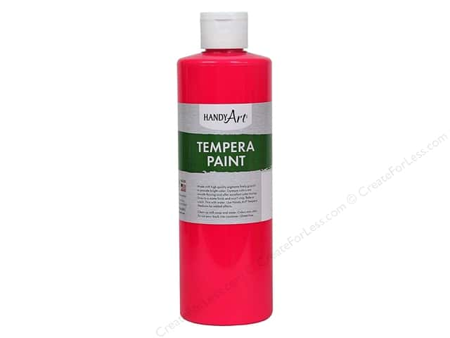 Handy Art Tempra Paint 16 oz Fluorescent Hot Pink