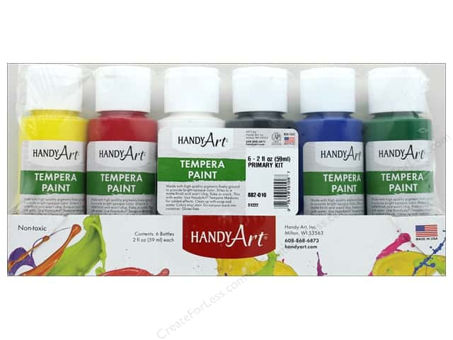 Handy Art Tempra Paint Set 2 oz Primary