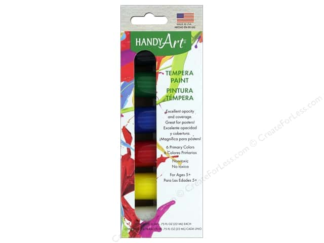 Handy Art Tempra Paint Jar Set 6 pc. Primary