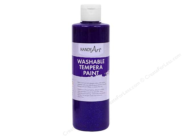 Handy Art Washable Tempra Paint 8 oz. Glitter Violet