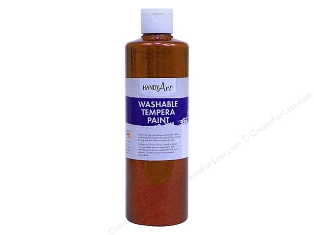 Handy Art Washable Tempra Paint 8 oz. Glitter Orange