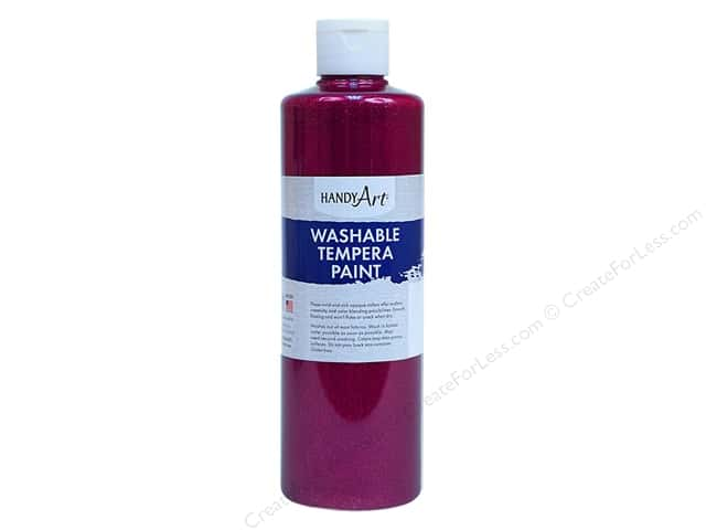 Handy Art Washable Tempra Paint 8 oz. Glitter Magenta