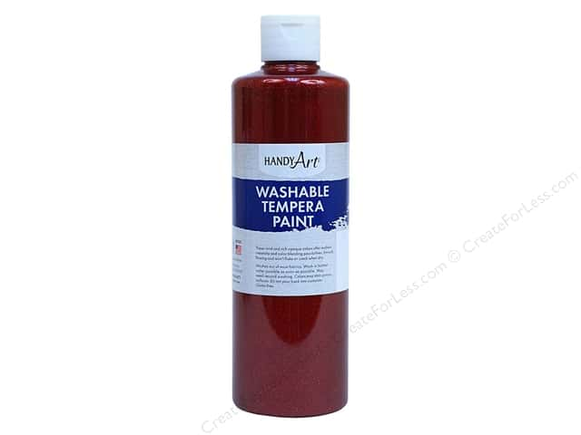 Handy Art Washable Tempra Paint 8 oz. Glitter Red