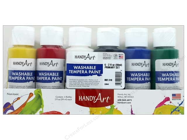 Handy Art Tempra Paint Set 2 oz Primary 6 pc