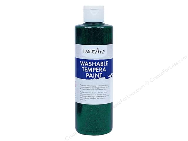 Handy Art Washable Tempra Paint 8 oz. Glitter Green