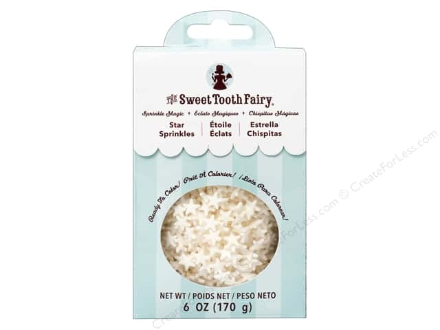 American Crafts Sweet Tooth Fairy Stars White 6 oz