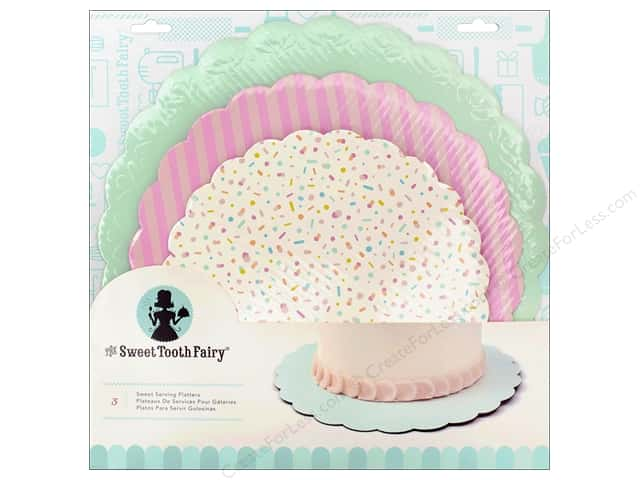 American Crafts Sweet Tooth Fairy Cake Plates