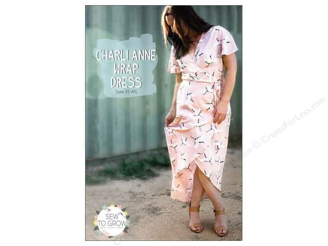 Sew To Grow Charli Anne Wrap Dress XS-4XL Pattern