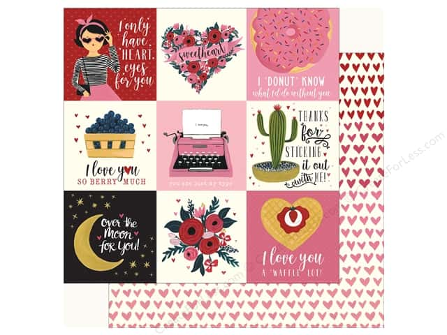 Carta Bella Collection Hello Sweetheart Paper 12 in. x 12 in. Journal Card 4 in. x 4 in. (25 pieces)