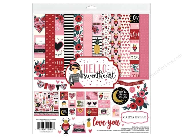 Carta Bella Collection Hello Sweetheart Collection Kit 12 in. x 12 in.