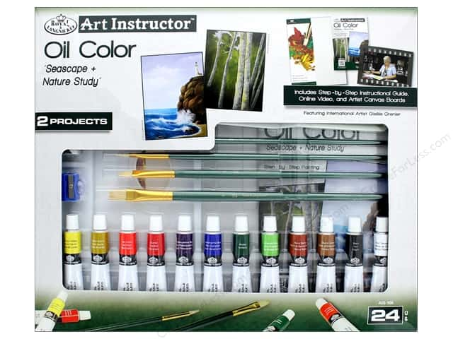 Royal Art Instructor Oil Color Paint Set