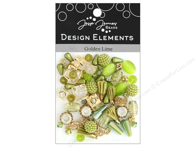Jesse James Bead Design Element Golden Lime