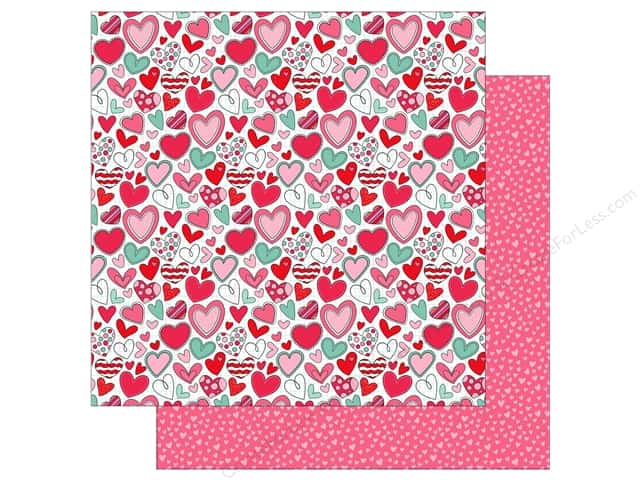 Photo Play Love Notes Paper 12 in. x 12 in. Heartbreaker (25 pieces)