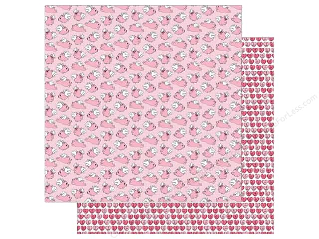 Photo Play Love Notes Paper 12 in. x 12 in. When Pigs Fly (25 pieces)