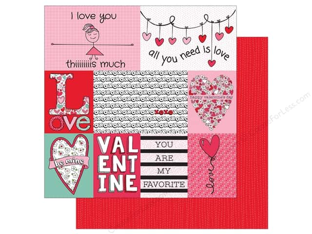 Photo Play Love Notes Paper 12 in. x 12 in. Cards (25 pieces)