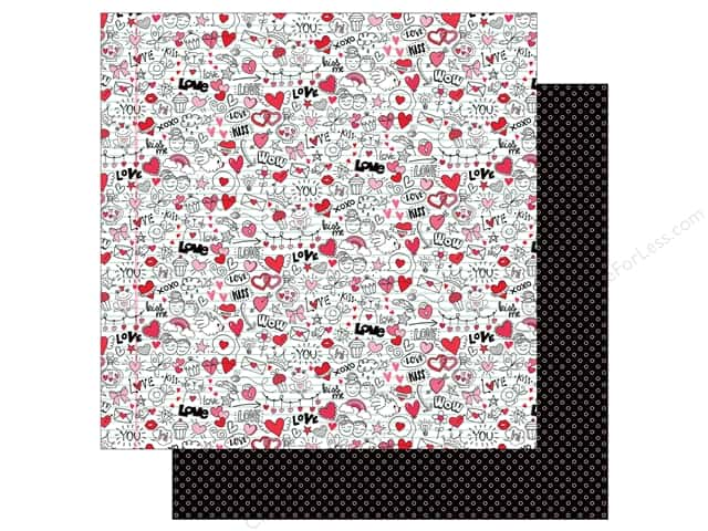 Photo Play Love Notes Paper 12 in. x 12 in. Doodles (25 pieces)