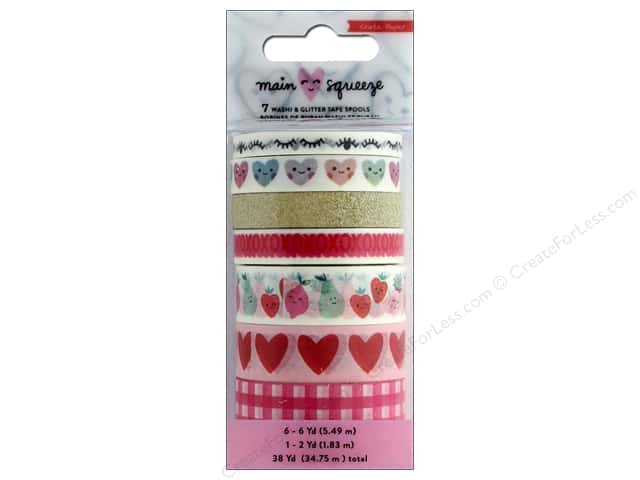Crate Paper Main Squeeze Washi Tape Set Glitter Gold