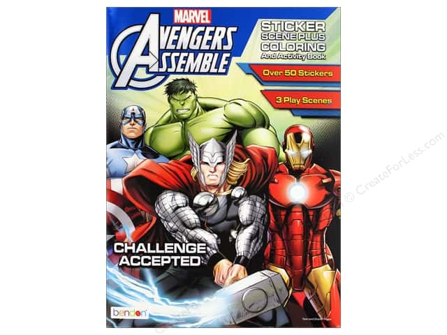 Bendon Coloring & Activity Book Sticker Scene Avenger