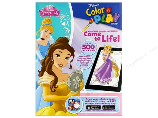 Bendon Color and Play Sticker Activity Book Princess