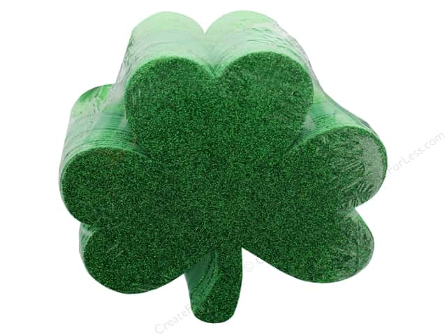 Darice Foamies Base St Patrick's Shamrocks 36 pc