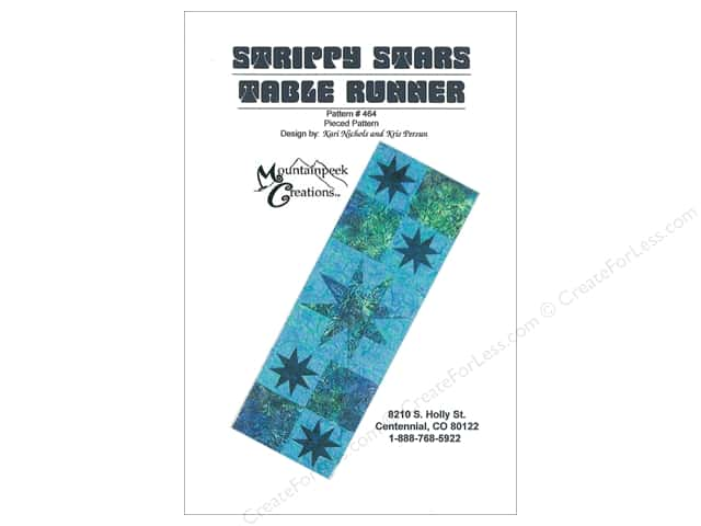 Mountainpeek Creations Strippy Stars Table Runner Pattern