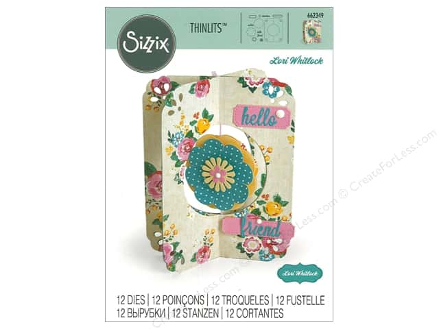 Sizzix Dies Lori Whitlock Thinlits Flower Card