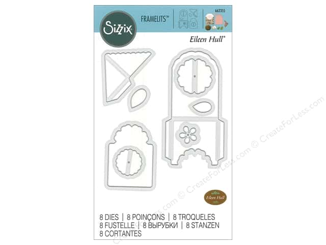 Sizzix Dies Eileen Hull Framelits Bookmark, Tag & Pocket