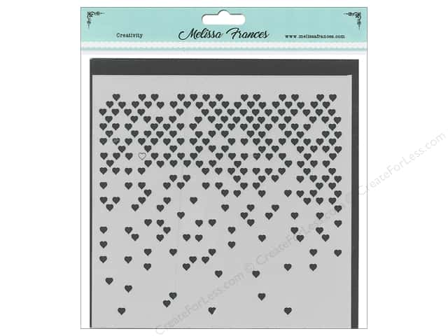 Melissa Frances Stencil 6 in. x 6 in. Heart Missing