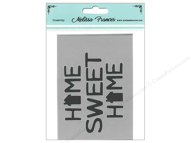 Melissa Frances Stencil 3 in. x 4 in.   Home Sweet Home