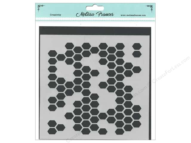 Melissa Frances Stencil 6 in. x 6 in. Honeycomb Missing