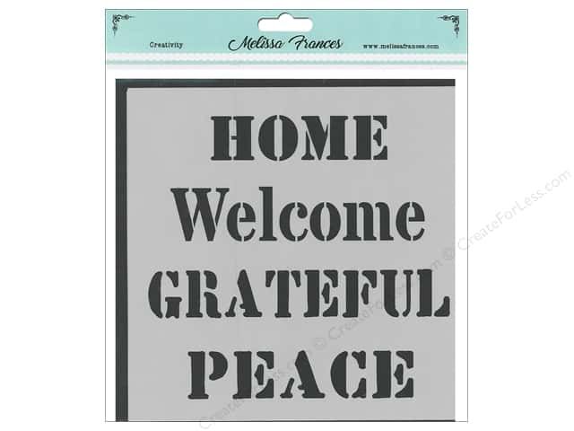 Melissa Frances Stencil 6 in. x 6 in. Home Welcome