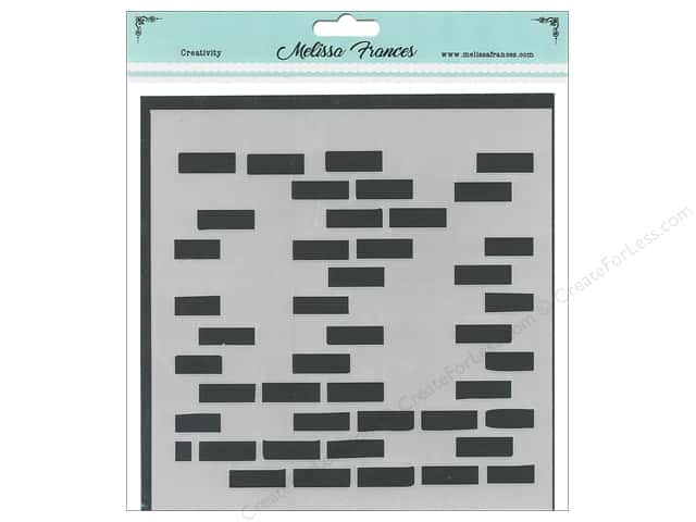Melissa Frances Stencil  6 in. x 6 in. Bricks Missing