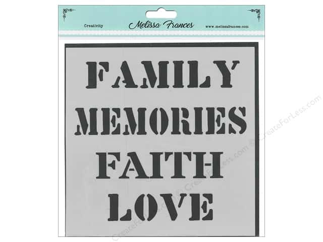 Melissa Frances Stencil  6 in. x 6 in. Family Memories