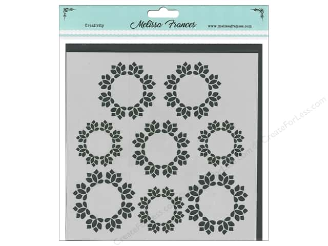 Melissa Frances Stencil  6 in. x 6 in. Wreath