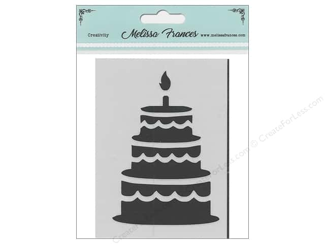 Melissa Frances Stencil 3 in. x 4 in.  Birthday Cake