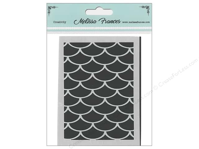 Melissa Frances Stencil 3 in. x 4 in. Waves