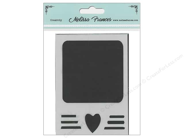 Melissa Frances Stencil 3 in. x 4 in.   Polaroid Heart