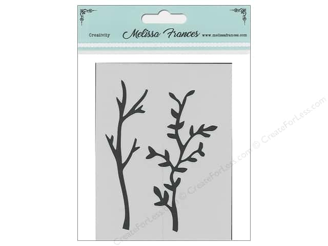 Melissa Frances Stencil 3 x 4 in. Branches