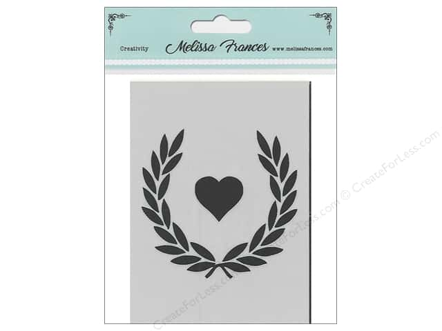 Melissa Frances Stencil 3 in. x 4 in. Wreath Heart