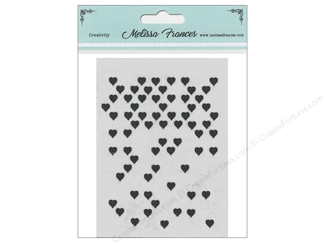 Melissa Frances Stencil 3 x 4 in. Hearts Missing