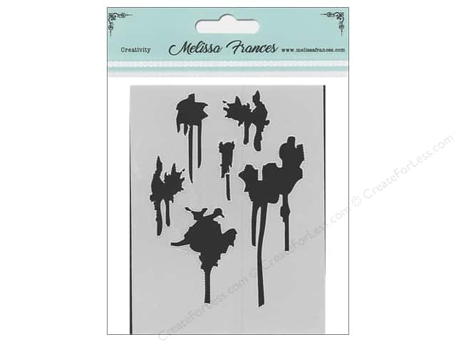 Melissa Frances Stencil 3 x 4 in. Drips