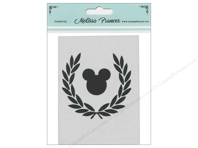 Melissa Frances Stencil 3 in. x 4 in.  Wreath Mouse