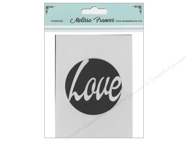 Melissa Frances Stencil 3 in. x 4 in.  Love Circle