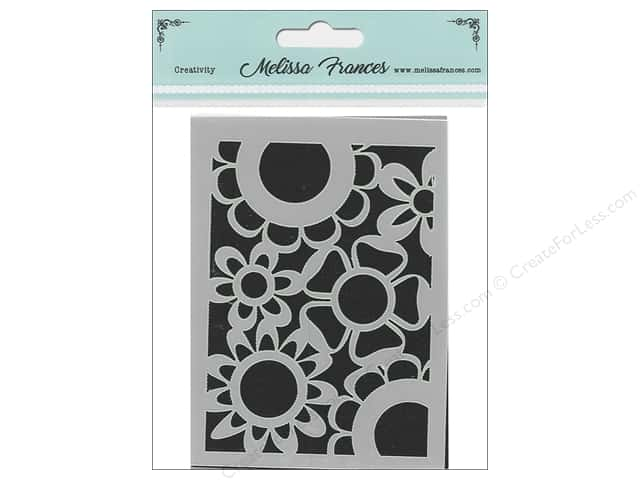 Melissa Frances Stencil 3 in. x 4 in. Flower Power 2