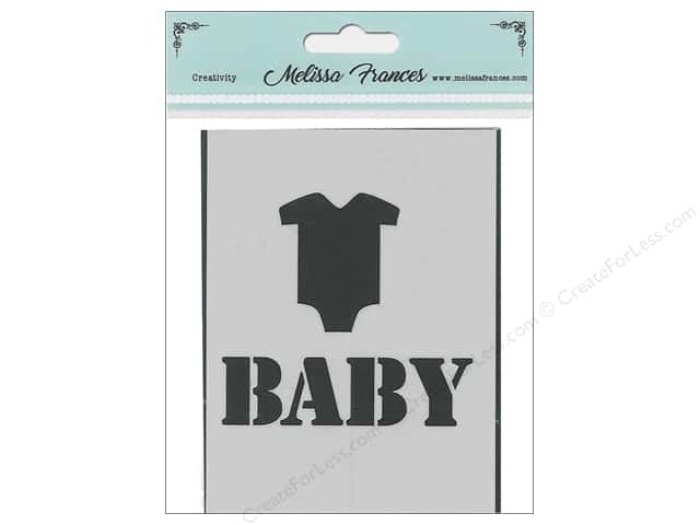 Melissa Frances Stencil 3 in. x 4 in. Baby T-Shirt